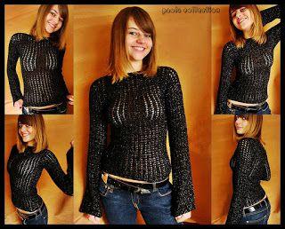 uncinetto moda e fantasia: magliette primaverili....cotone, lurex, acrilico.....