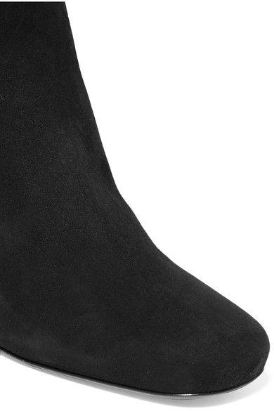 Prada - Suede Over-the-knee Boots - Black - IT35.5
