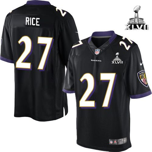 Find this NFL NIKE Baltimore Ravens 27 Ray Rice Black With Super Bowl Patch  Youth Limited Jersey Womens ... 74d8bf2e5