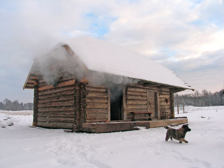 Smoke-sauna (suitsusaun) in Southern Estonia.