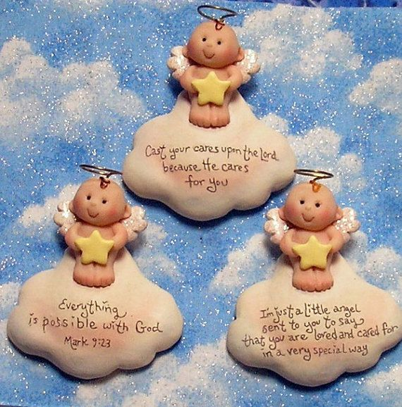 These little angel magnets are ready and waiting to spread love and joy with the saying of your choice written on the cloud.
