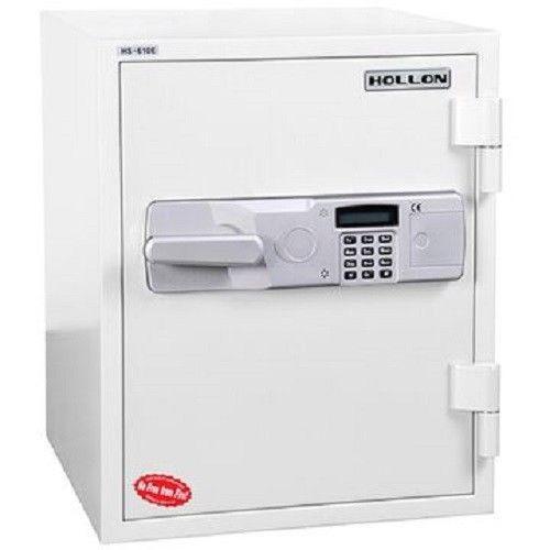 HS-610E Hollon Home 2hr Fireproof Security Office Safe Keypad WHITE #HollonSafe