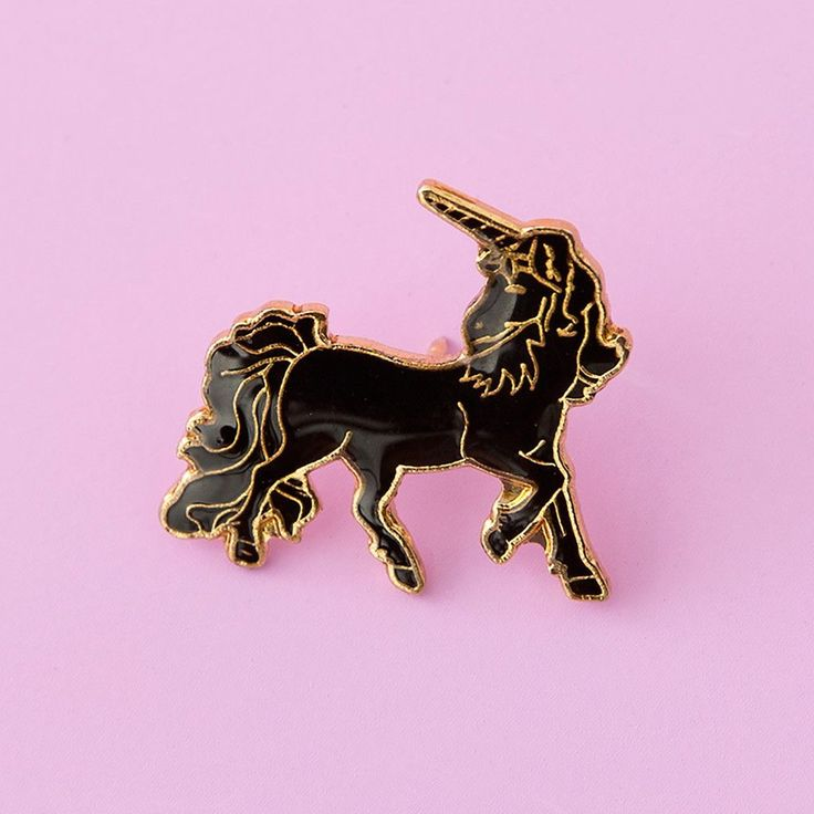 this black and gold unicorn's not only magical, she's straight-up classy. you two have so much in common. - VINTAGE - POST WITH RUBBER BACKING FOR ADDED SUPPORT - SHIPPED IN A SMALL PRINTED POLY BAG -