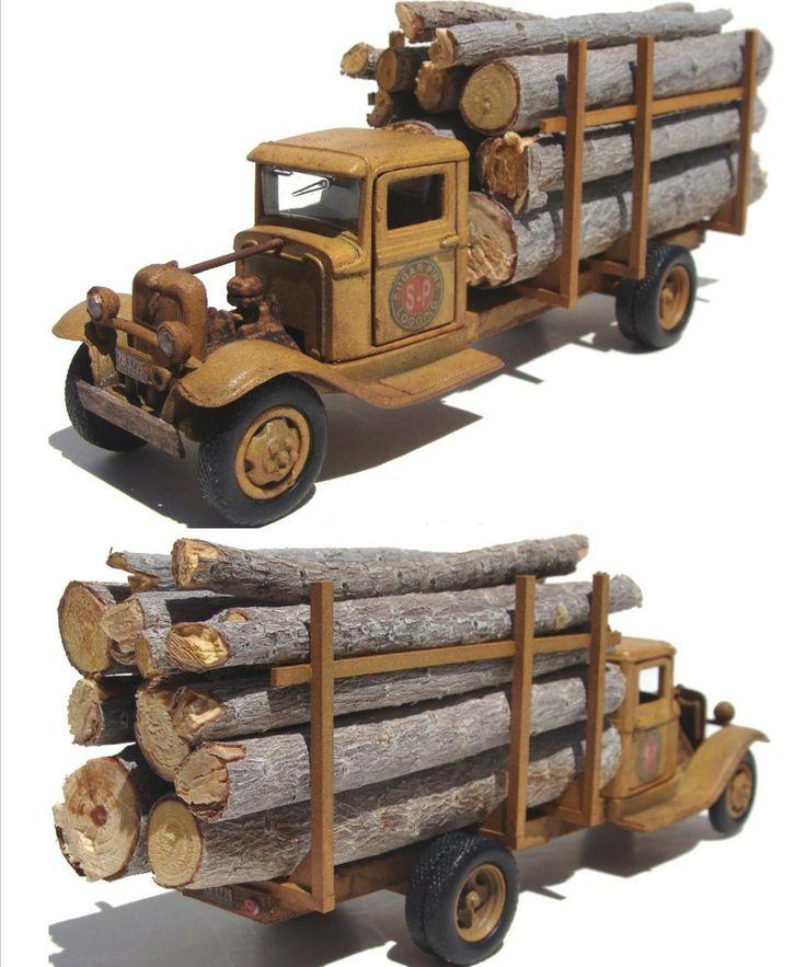 1934 Ford Logging Truck 2b 3225 O Scale 1934 Ford Trucks