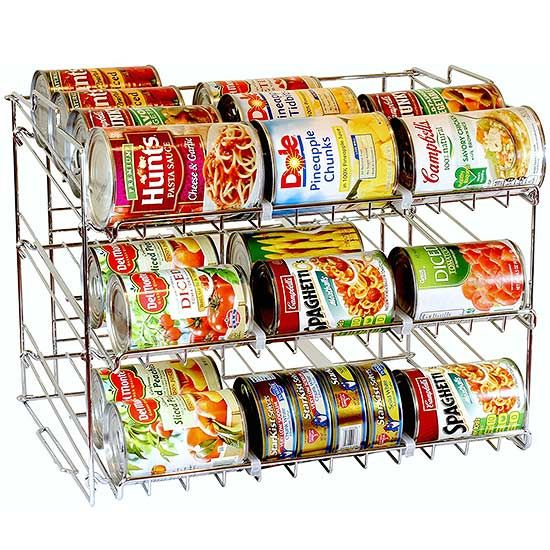 Make your pantry the epitome of organized with these awesome pantry space-savers. You can store just about anything in these organizers. Use clear pantry organizers for food items such as cereal or keep canned goods on a stackable organizer.