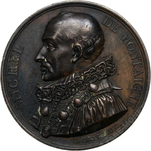 MEDAL MICHEL DE MONTAIGNE 1817 ROK s.GATTEAUX