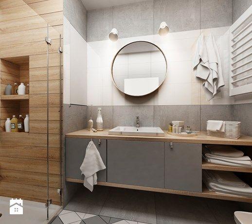 Mieszkanie w Katowicach 65m² - Łazienka, styl skandynawski - zdjęcie od More IN