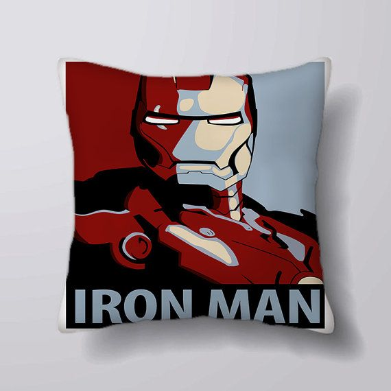 Iron Man Comic  Cushion Fabric Panel Or Case or with by foxyNfoxy