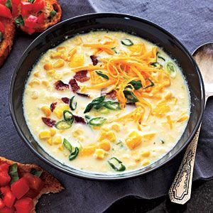 Healthy Summer Squash and Corn Chowder Recipe