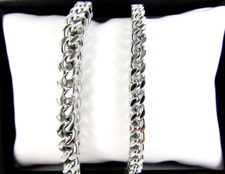 Stainless Steel Bracelet Silver Fishtail Men Chain