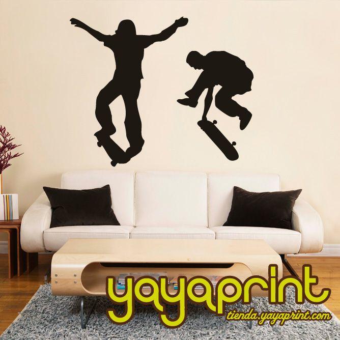 Vinilo Decorativo Pared Skate Hecho En Espa A Yayaprint