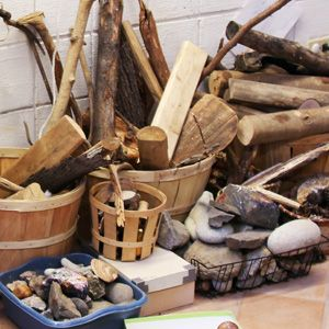 Use loose parts to inspire play!