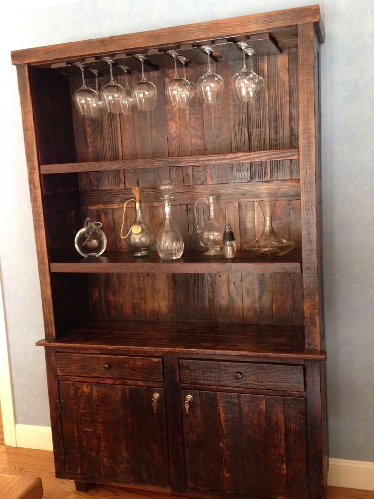 Theres A Pattern Here Wine HutchCustom FurnitureChina CabinetFor
