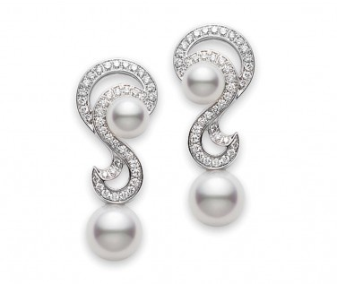 Laguna Collection Pearl And Diamond Earrings : Mikimoto : Product Catalogue : Berry's Jewellers
