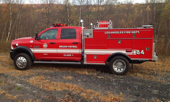 ◆City of Los Angeles, CA FD Dodge 5500 Commercial Chassis Brush Truck – SKID Unit◆