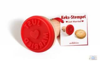 Just Married Kekse backen mit diesem allerliebsten Plätzchenstempel