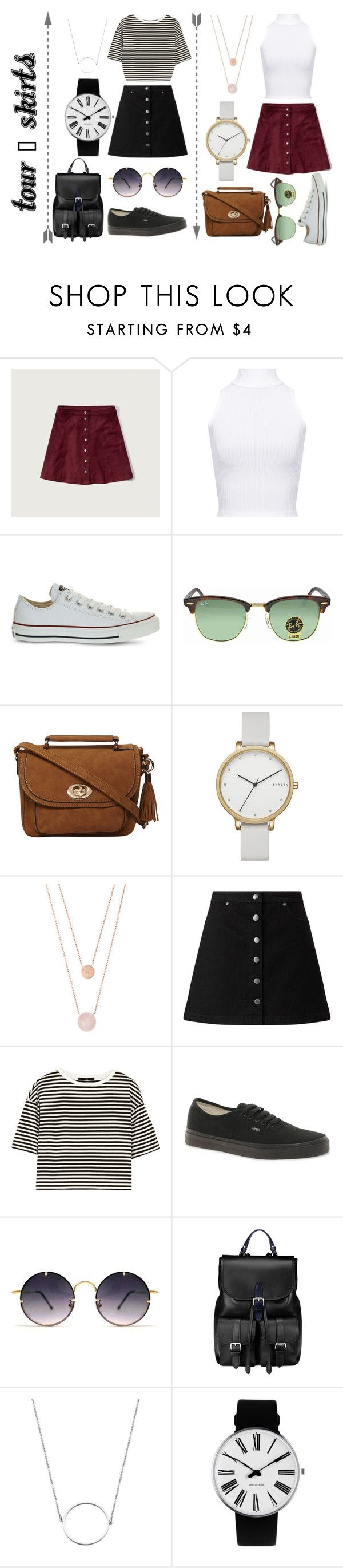 """""""TOUR - Skirts"""" by lilyrose2000 on Polyvore featuring Abercrombie & Fitch, WearAll, Converse, Ray-Ban, Dorothy Perkins, Skagen, Michael Kors, Miss Selfridge, TIBI and Vans"""