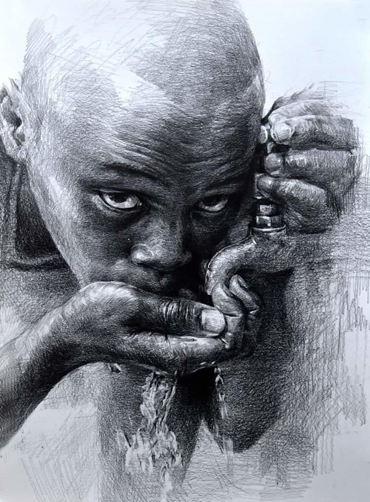 Art By Hoehwarang Via Elena Livia D Linkedin Portrait Drawing Charcoal Art Art Drawings Sketches