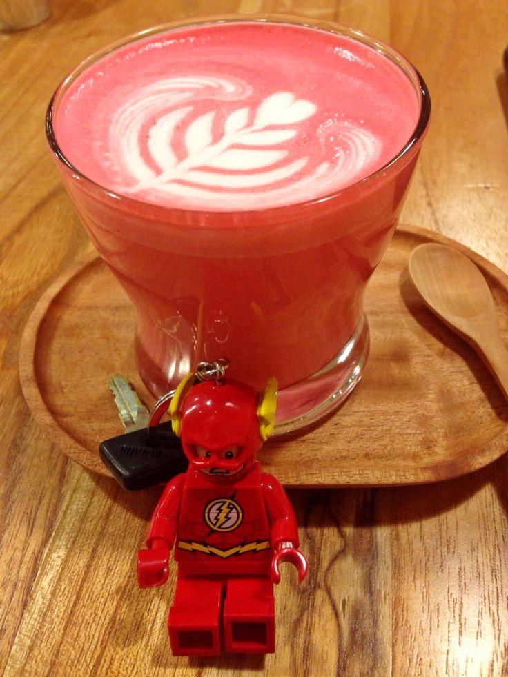 Red Velvet Latte @Stickee