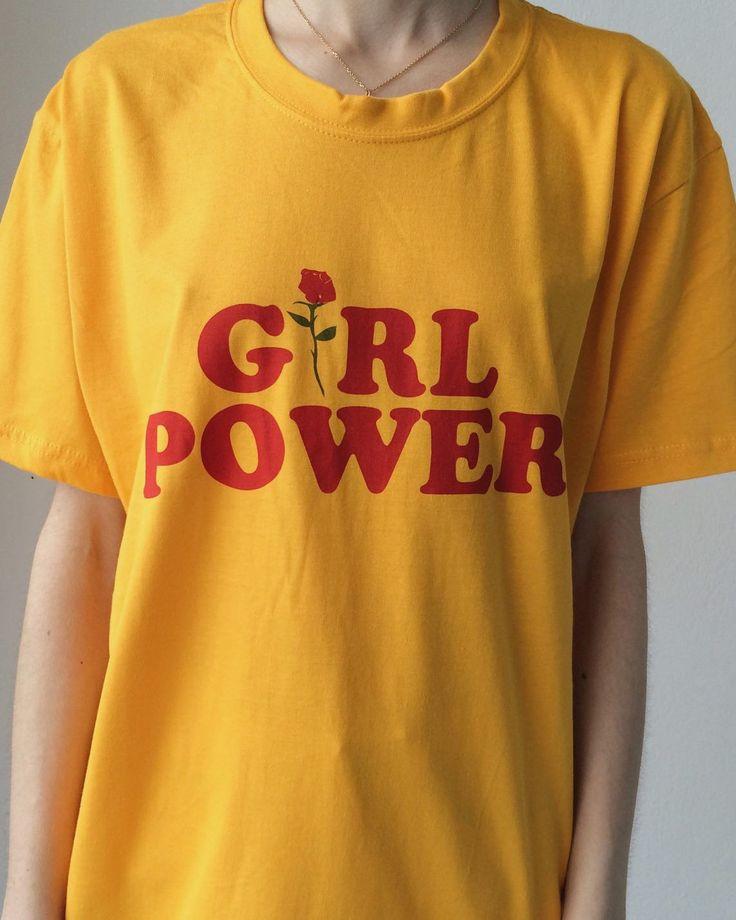 Girl Power T-Shirt yellow boogzel apparel