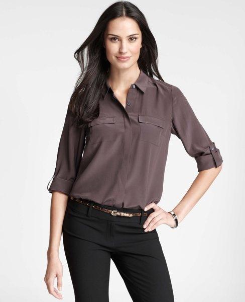 $98. Ann Taylor Petite Silk Camp Shirt