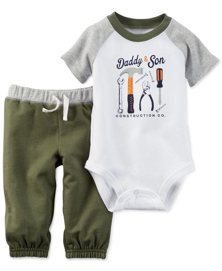 Carter's Baby Boys' 2-Piece Short-Sleeve Daddy & Son Bodysuit & Pants Set