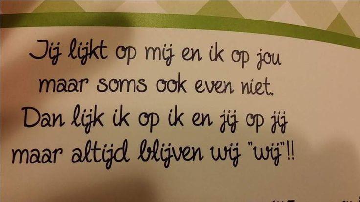 NL tekst tweeling. Idee voor op je geboortekaartje of voor aan de muur.
