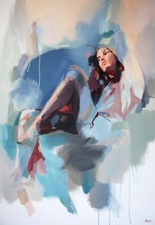 Rico Blanco. So few brush strokes to define shapes. mmmmm