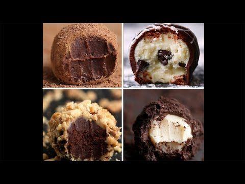 Easy Chocolate Truffles 4 Ways - YouTube