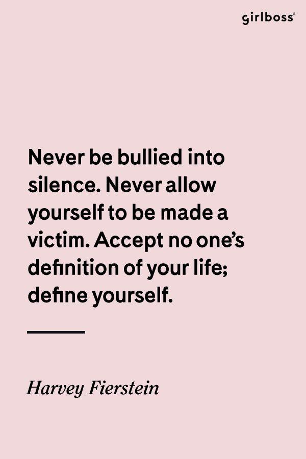 GIRLBOSS QUOTE: Speak your truth // Quote by Harvey Fierstein