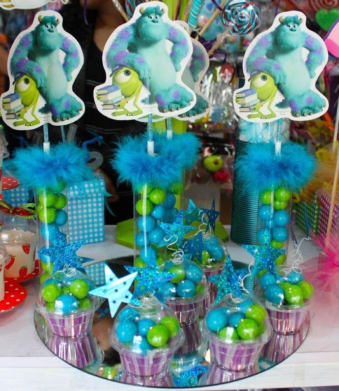 cajas empaques y bases dulces temtica monsters inc decoracion