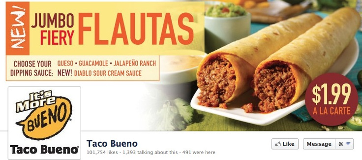 Just one of the specials available at our sponsor, Taco Bueno. http://www.tacobueno.com