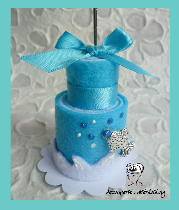 Sea theme felt mini cake