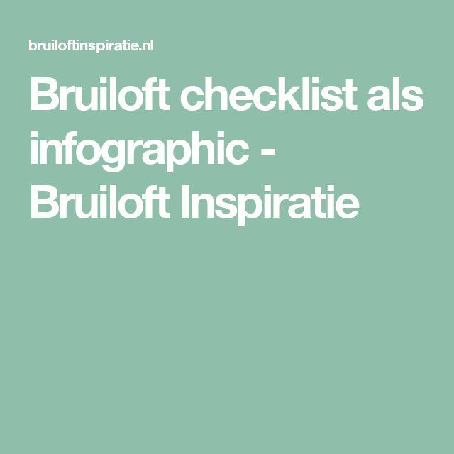 Bruiloft checklist als infographic - Bruiloft Inspiratie