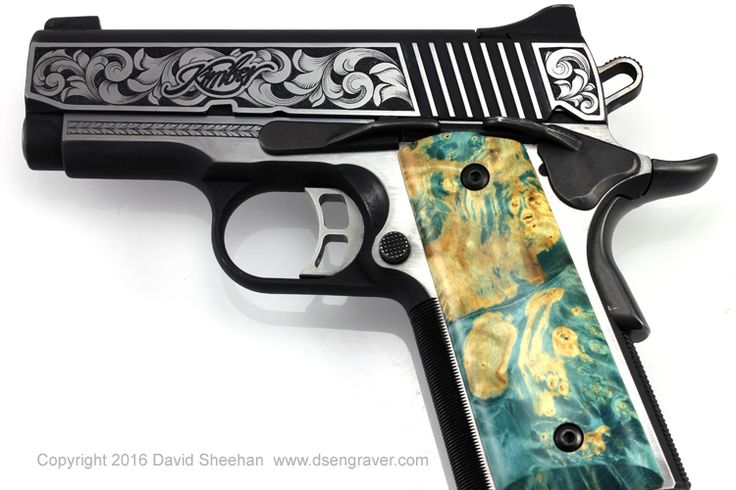 Hand Engraved Kimber 1911 Find our speedloader now!  http://www.amazon.com/shops/raeind