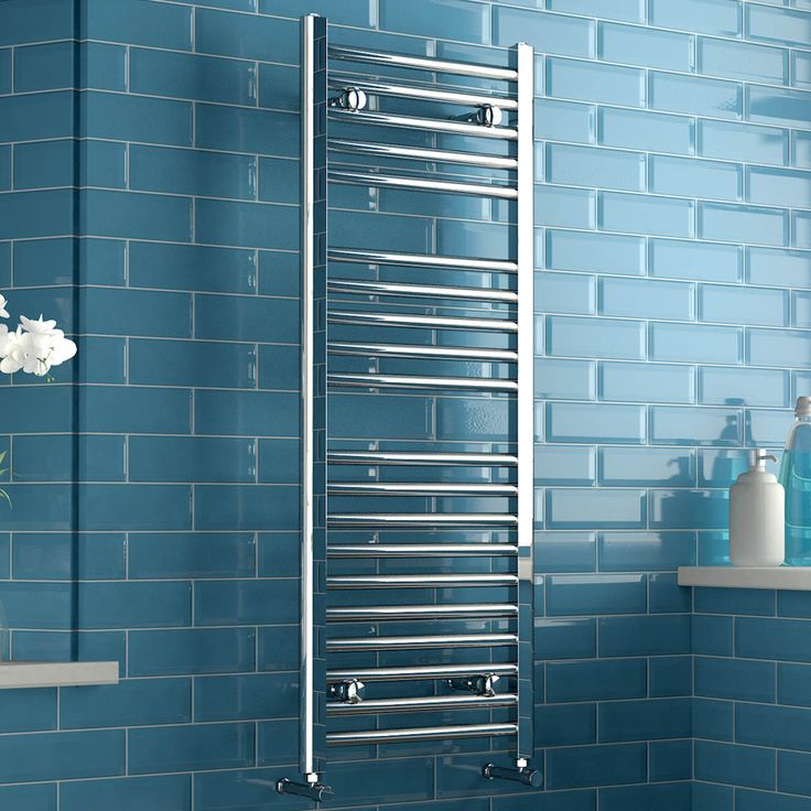 Natasha Straight Ladder Rail Contemporary Electric Towel Radiator in Chrome 1200mm x 450mm