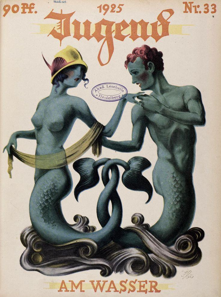 """carrefouretrange: """" Jugend #33, 1925, artist? (via http://digi.ub.uni-heidelberg.de/diglit/jugend?sid=7496af10818462124956a6645f7b2031) (more on the blog :..."""