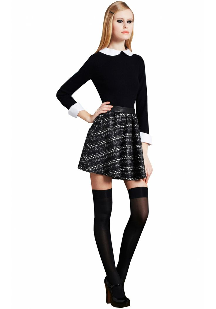 The whole outfit is cute. Kind of reminds me of private school uniforms. (via Alice + Olivia)