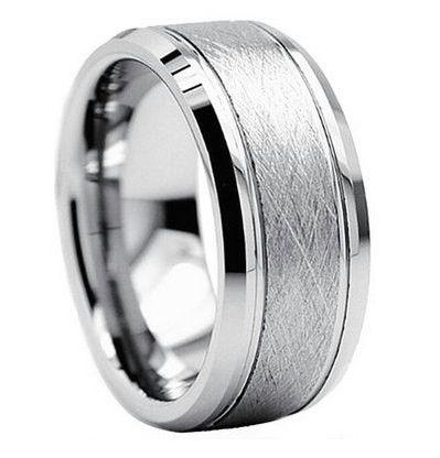 8mm brushed tungsten ring tungsten brushed ring brushed tungsten ring brushed rings silver wedding bandsmen