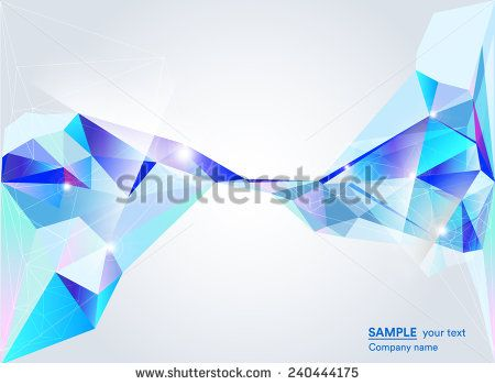 Abstract blue polygonal background on network, technology and global connections