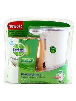 DETTOL 250ml CLASSIC Bezdotykowy Aplikator Mydła w Płynie + Zapas  • zabija bakterie i ich przetrwalniki • higieniczne mycie rąk • niszczy 99,9% drobnoustrojów • baterie w zestawie