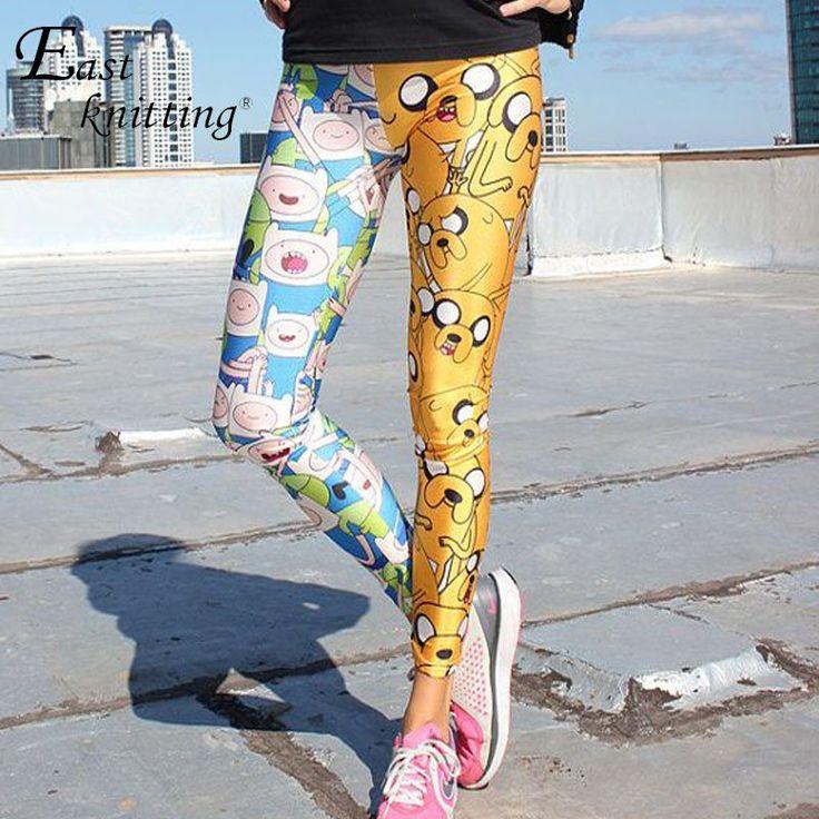 X-041 Adventure Time Leggins Burned Velvet Leggings Black Leggings Legging Fitness