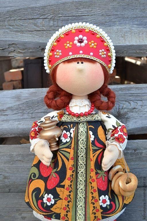 Купить Матрена - ярко-красный, интерьерная кукла, кукла ручной работы, авторская ручная работа