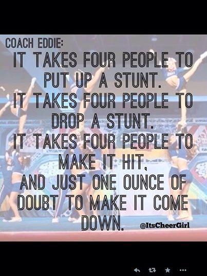 It take four people.