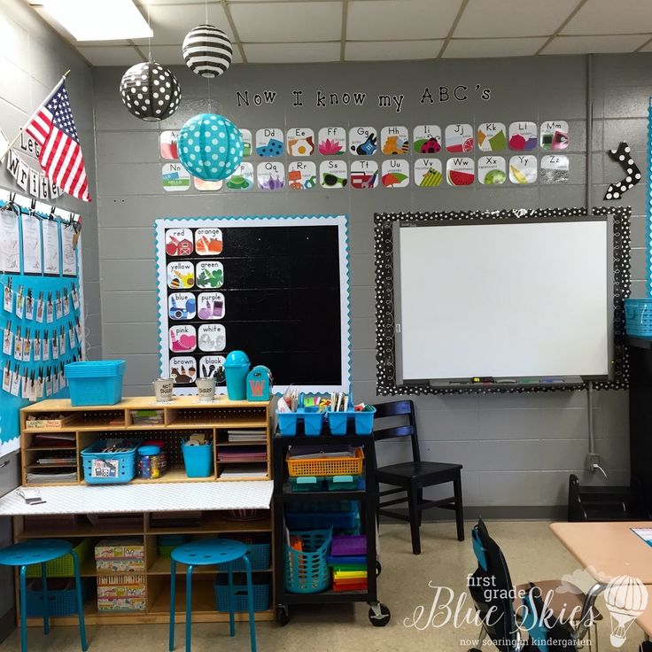 Classroom Design Tools ~ Classroom reveal first grade blue skies