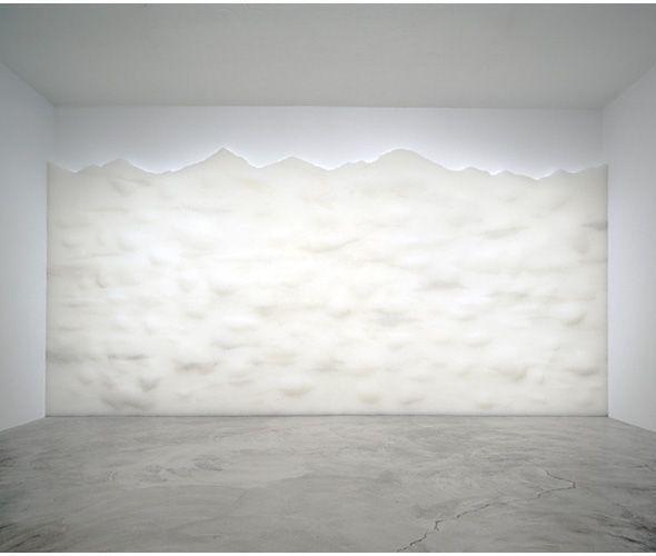 Tara Donovan transcends the mundane - Haze, 2003 Stacked Clear Plastic Drinking Straws