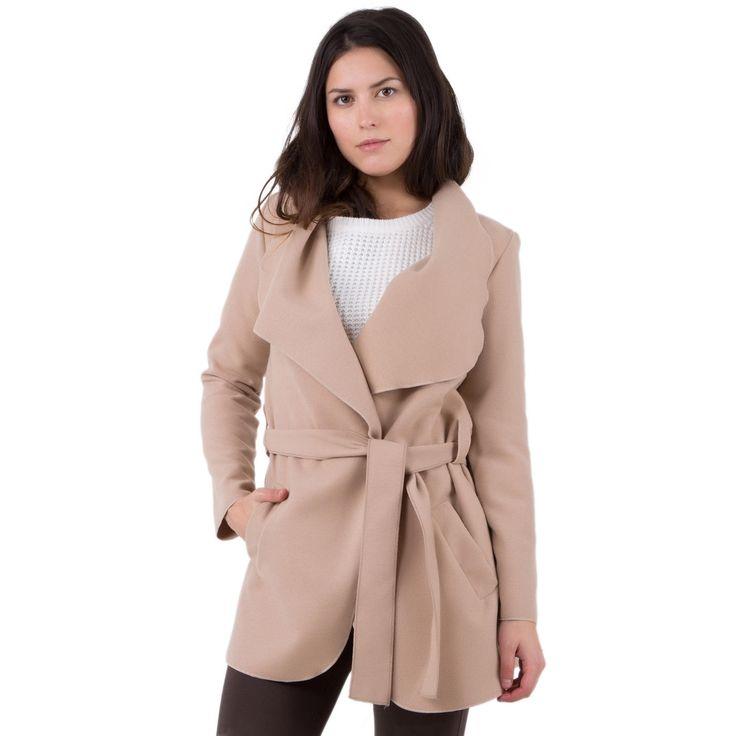 Chaud et ultra cosy, le manteau peignoir est la IT pièce à shopper cette saison.<br/>Ajustez-le avec sa ceinture à nouer ou portez-le ouvert pour un look boyish.<br/>Manteau femme, coupe mi-longue, ceinture, 2 poches.<br/>