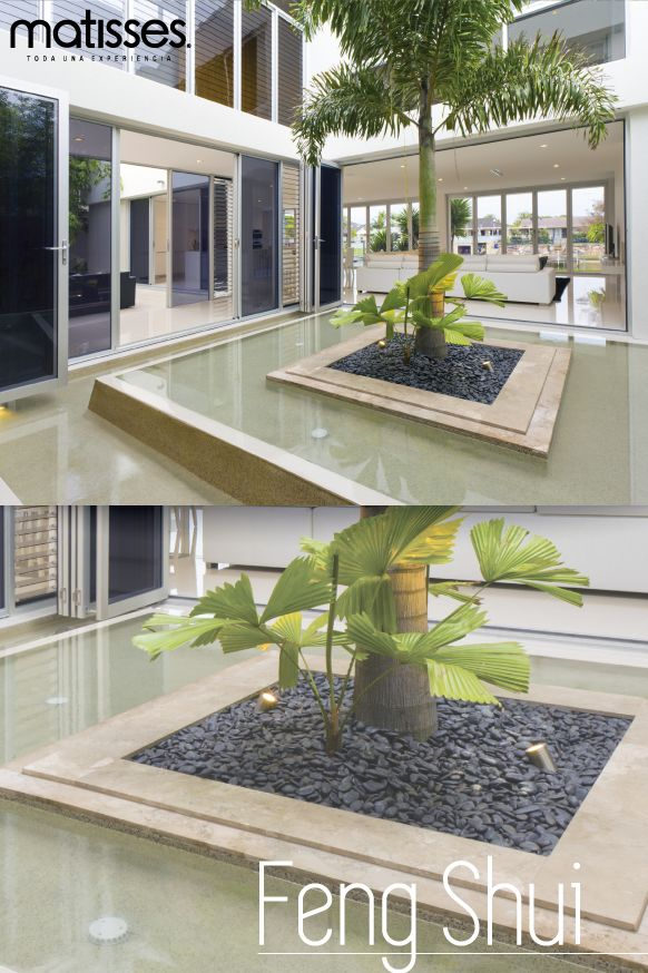 El jardín representa un portal de protección, el Feng Shui recomienda tener uno en casa que cuente con plantas y una fuente.