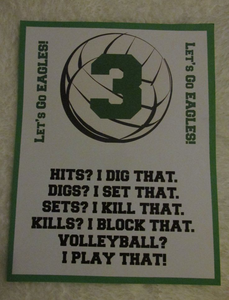 One of the Volleyball locker decorations I that made for my daughter's team last fall