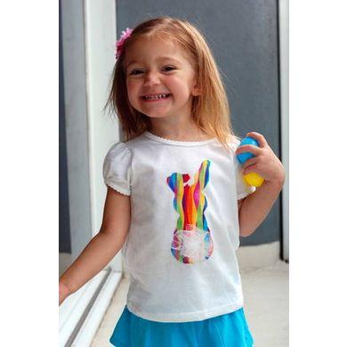DIY Easter Bunny Shirt: Shirts Cost, Bunnies Tail, Diy Easter, Adorable Diy, Easter Bunnies, Bunnies Shirts, Easter Shirts, 1 60 Fabrics, Easter T Shirts